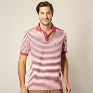 Dark pink striped polo shirt