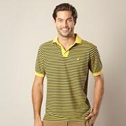 Yellow striped polo shirt