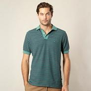 Green striped polo shirt