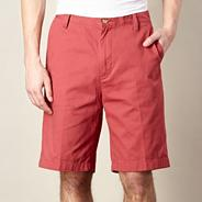 Big and tall red chino shorts