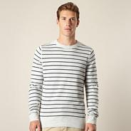 Light grey striped jumper
