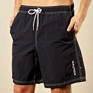 Navy stitch swim shorts