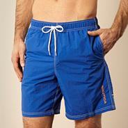 Bright blue quick drying swim shorts