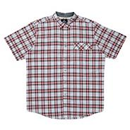 Big and tall red checked short sleeve shirt
