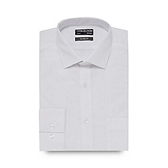 The Collection - Big and tall white plain tailored fit shirt
