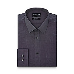 The Collection - Big and tall grey textured tailored fit shirt