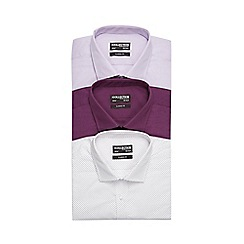 The Collection - Pack of three assorted easy care classic fit shirts