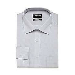 The Collection - Big and tall grey gingham print classic fit shirt
