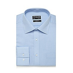The Collection - Big and tall light blue textured herringbone classic fit shirt