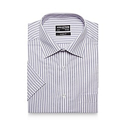 The Collection - Blue herringbone short sleeve shirt