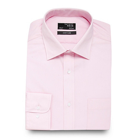 Thomas Nash - Light pink plain regular fit shirt