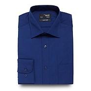 Thomas Nash - Big and tall dark blue striped shirt