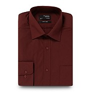 Thomas Nash - Maroon plain regular fit shirt