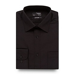 Thomas Nash - Big and tall black plain easy care shirt