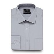 Thomas Nash - Grey plain regular fit shirt