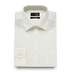 Thomas Nash - Big and tall cream plain regular fit shirt
