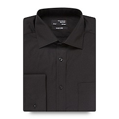 Thomas Nash - Black plain regular fit shirt