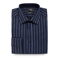 Thomas Nash - Big and tall dark blue striped shirt