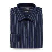 Big and tall dark blue striped shirt