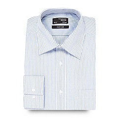 Thomas Nash - Big and tall blue textured striped shirt