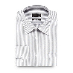 Thomas Nash - Grey striped easy care shirt