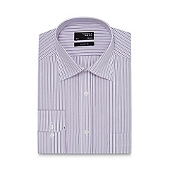 Thomas Nash - Pink textured stripe regular fit shirt