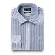 Big and tall blue two tone striped shirt