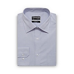 The Collection - Big and tall blue dobby line print tailored fit shirt