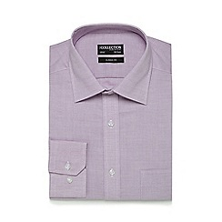 The Collection - Lilac textured classic fit shirt
