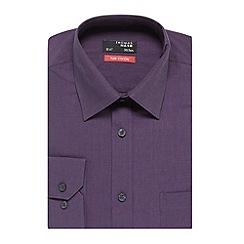 Thomas Nash - Dark purple easy iron shirt