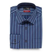 Big and tall blue sateen striped shirt