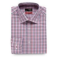 Big and tall dark pink gingham checked regular fit shirt