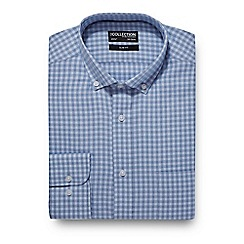 The Collection - Big and tall blue checked slim fit shirt