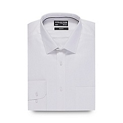 The Collection - White textured slim fit shirt