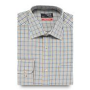 Big and tall olive brushed gingham shirt