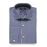 Big and tall navy striped regular fit shirt