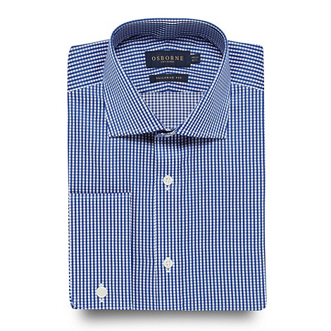 Osborne - Dark blue gingham shirt