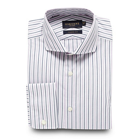 Osborne - Pink two tone striped regular fit shirt