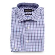 Lilac two tone gingham checked tailored fit shirt