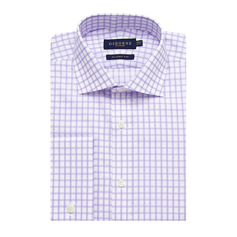 Osborne - Lilac non iron checked shirt