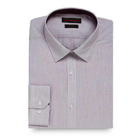 Red Herring - Purple fine striped slim fit shirt