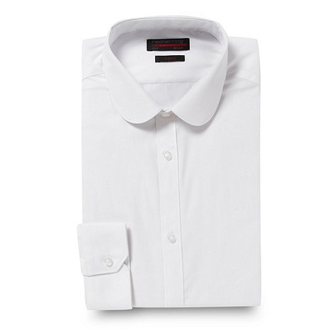 Red Herring - White penny collar slim fitting shirt