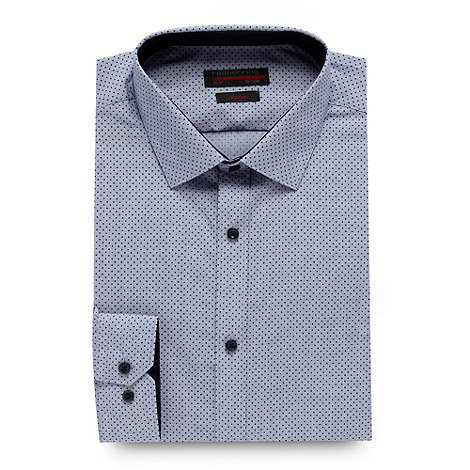 Red Herring - Light blue spotted slim fit shirt
