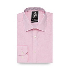 Jeff Banks - Big and tall pink floral jacquard slim fit shirt