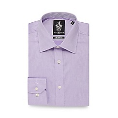 Jeff Banks - Lilac diamond textured tailored fit shirt