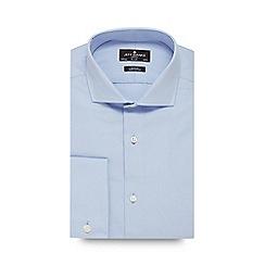 Jeff Banks - Big and tall blue poplin slim fit shirt