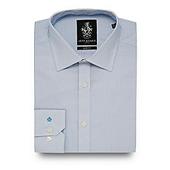 Jeff Banks - Big and tall blue mini dot print slim fit shirt