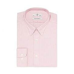 J by Jasper Conran - Red dobby tailored fit shirt