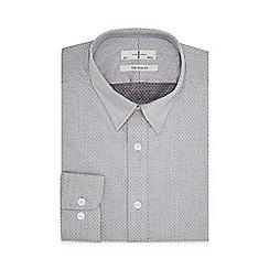 J by Jasper Conran - Grey dobby slim fit shirt