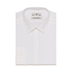 J by Jasper Conran - White dobby tailored fit shirt